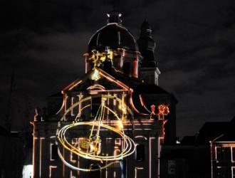 foto van St.Pieterskerk Gents lichtfestivel 2015.