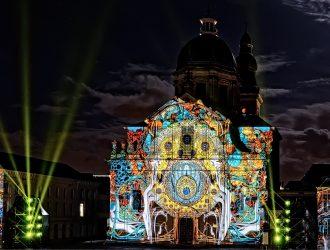 Gent lichtfestival 2018 Time Paradox St.Pietersplein.